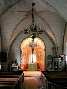 Vaversunda church interior