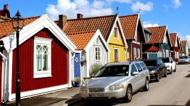 Workers cottages at Bjorkholmen