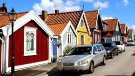Workers cottages at Bjorkholmen