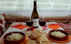 A hearty meal with Rioja