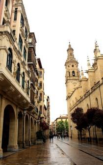 Logrono rainy street