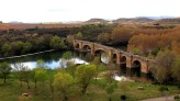 Medieval bridge across the Ebro