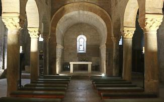 Romanesque interior with Visigothic crown