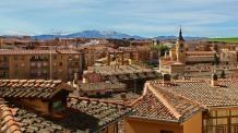Rooftop view to Sierra de Guadarrama
