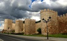 Turrets along medieval walls