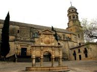 Cathedral behind Fontane de Santa Maria