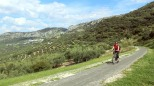 Cycling in the hillsides to Luque