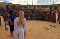 Filming the TV series (image from gameofthronesspain.com)