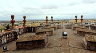 Atop the cathedral roof
