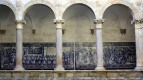 Columns and mosaics courtyard