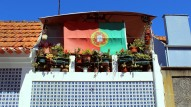 Portuguese flag on balcony