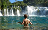 Swimming in the Krka falls
